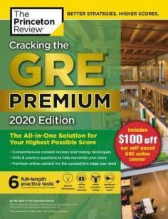 Cracking the GRE® premium