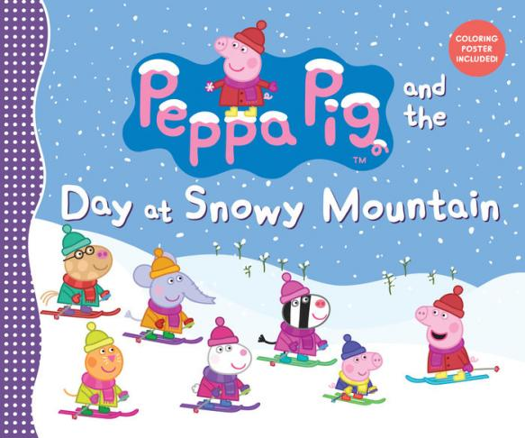 Peppa pig and the day at Snowy Mountain.