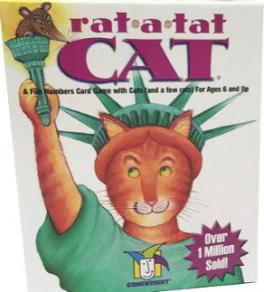 Rat-a-tat cat : a fun numbers card game with cats (and a few rats) for ages 6 and up