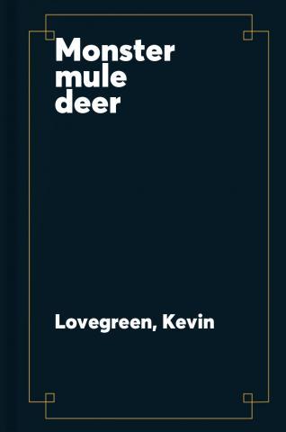 Monster mule deer