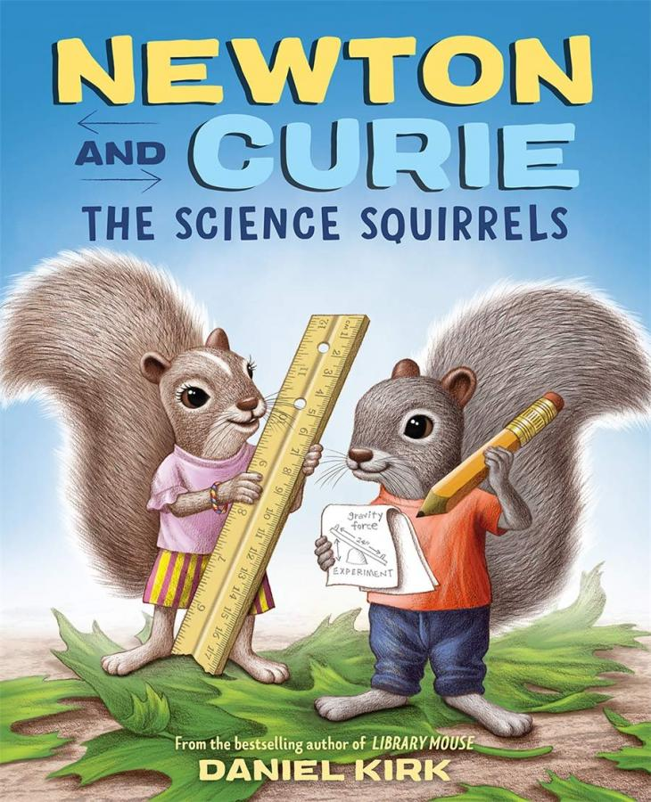 Newton and Curie, the science squirrels