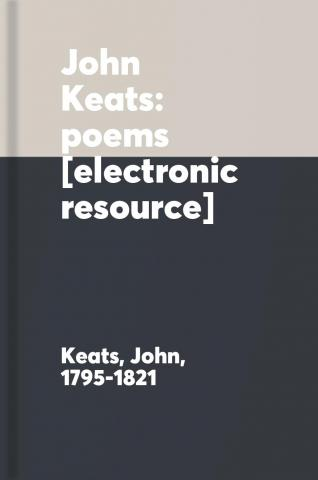 John Keats: poems.