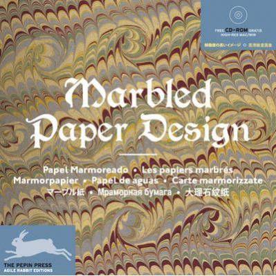 Marbled paper design.
